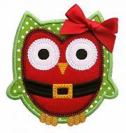 Santa Owl Applique