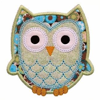 Scallop Owl Applique