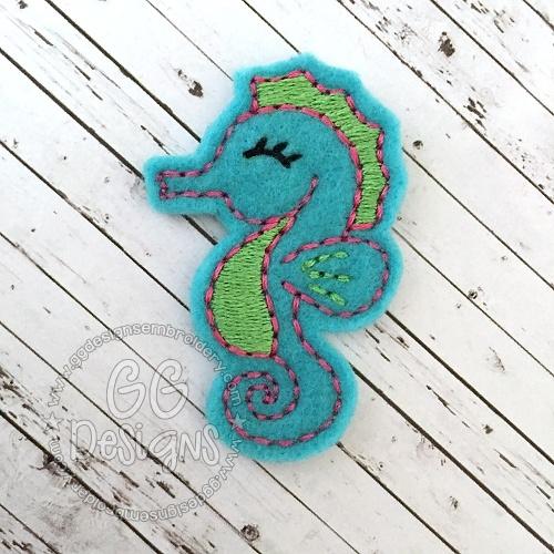 Seahorse Felt Stitchies