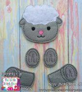Sheep Set Oversized Bow Parts Feltie