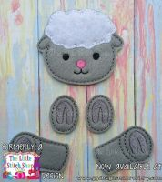 Sheep Set Oversized Bow Parts Feltie