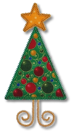 Skinny Christmas Tree Applique