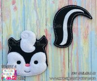 Skunk Oversized Bow Parts Feltie