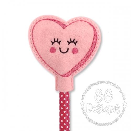 Smiley Heart Pencil Topper