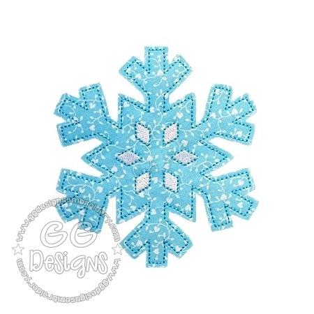 FREE Raw Edge Snowflake Applique