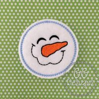 Happy Snowman Felt Stitchies