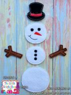 Snowman Set Oversized Bow Parts Feltie