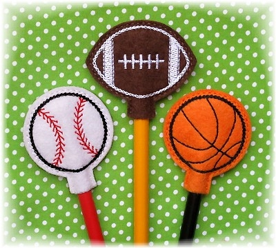 Sports Ball Pencil Toppers