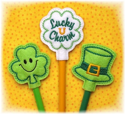 St Patrick's Pencil Toppers