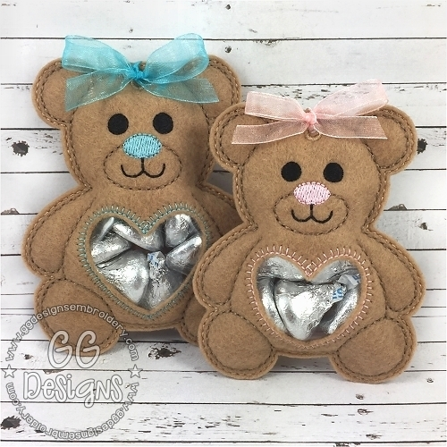 Teddy Bear Peekaboo Treat Bag