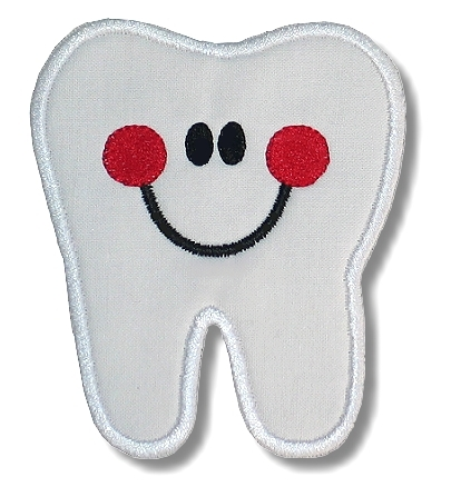 Happy Tooth Applique