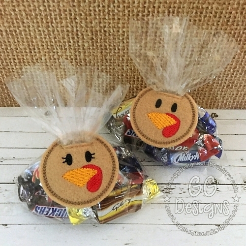 Turkey Treat Bag Topper