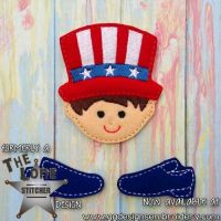 Uncle Sam Oversized Bow Parts Feltie