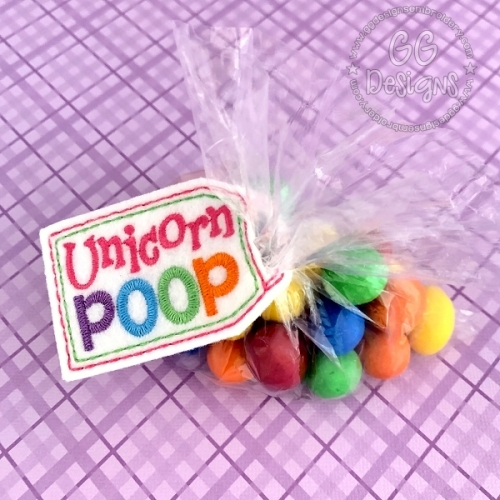 Unicorn Poop Treat Bag Topper