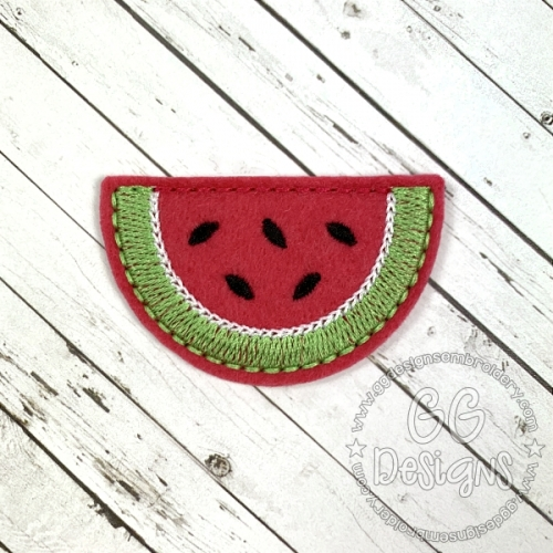 Watermelon Slice Clip Cover Felt Stitchies