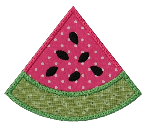 Watermelon Wedge Applique