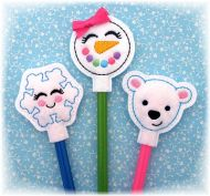 Winter Friends Pencil Toppers