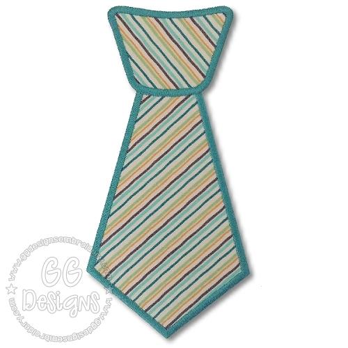 neck tie applique gg designs embroidery