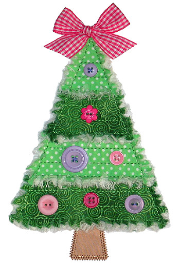 click to enlarge - Christmas Tree Applique